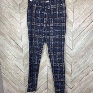 Laundry by Shelli Segal blue plaid leggings